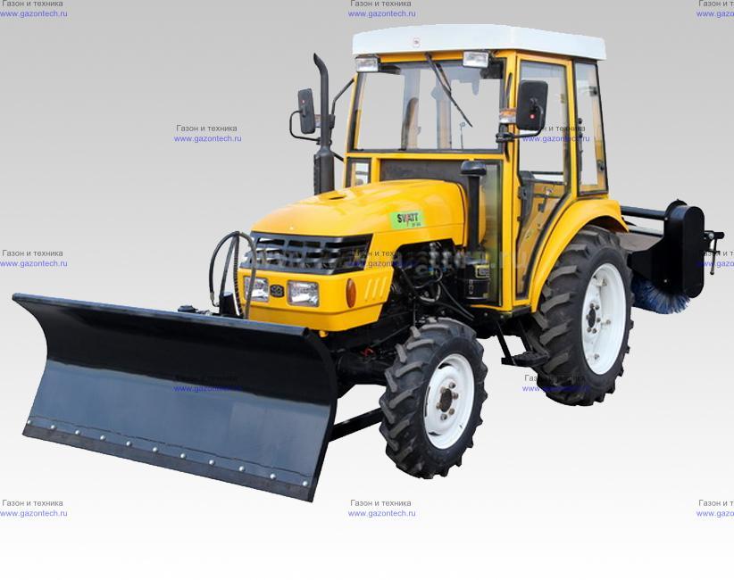 Коммунальный трактор для уборки снега и мусора